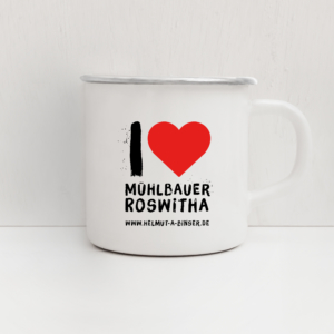 Emailletasse Roswitha