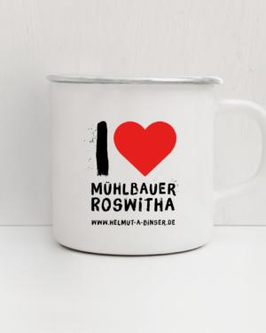 Emailletasse Roswitha